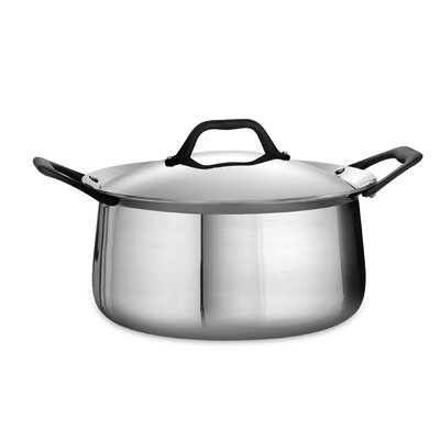 Limited Edition 6 Qt. Stainless Steel Round Dutch Oven by Tramontina