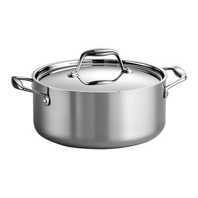 Gourmet 5 Qt. Stainless Steel Round Dutch Oven by Tramontina