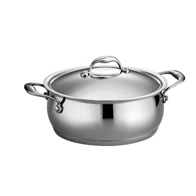 Gourmet Domus 5 Qt. Stainless Steel Round Dutch Oven by Tramontina