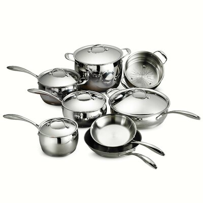 Gourmet Domus 13 Piece Stainless Steel Cookware Set by Tramontina