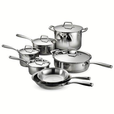 Gourmet Prima 12 Piece Stainless Steel Cookware Set by Tramontina