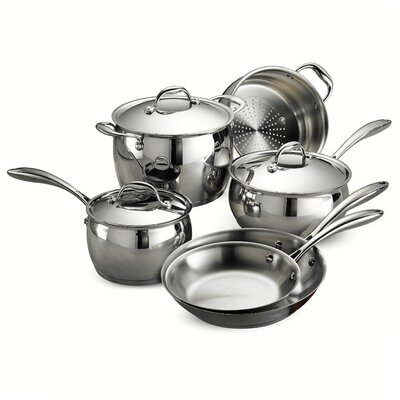 Gourmet Domus 9 Piece Stainless Steel Cookware Set by Tramontina