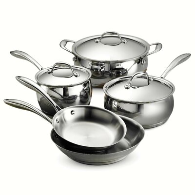 Gourmet Domus 8 Piece Stainless Steel Cookware Set by Tramontina