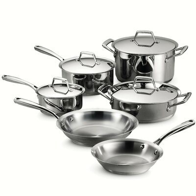 Gourmet Prima 10 Piece Stainless Steel Cookware Set by Tramontina