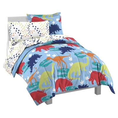 Dinosaur 5 Piece Twin Bed Set by Dream Factory
