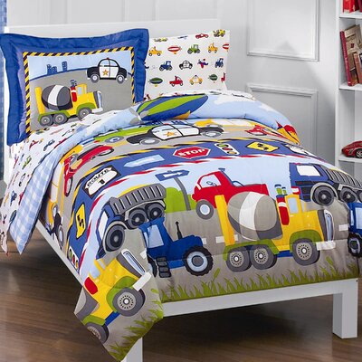 Trains & Trucks 5 Piece Twin Bed Set by Dream Factory