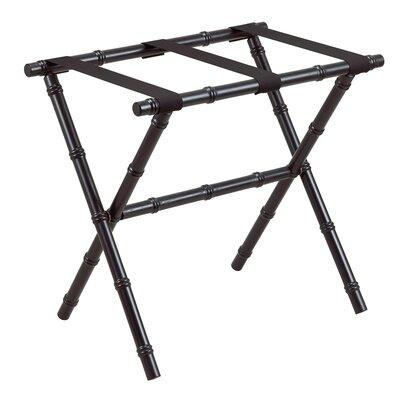 Gate House Furniture Nylon Series Bamboo Inspired Straight Leg Luggage Rack