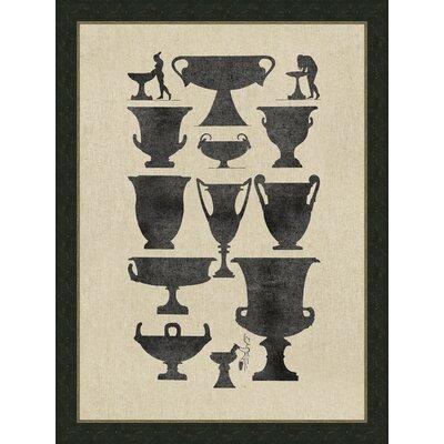 Vases on Linen I Framed Graphic Art by Melissa Van Hise