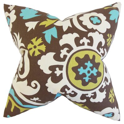 Pavati Floral Cotton Throw Pillow by The Pillow Collection