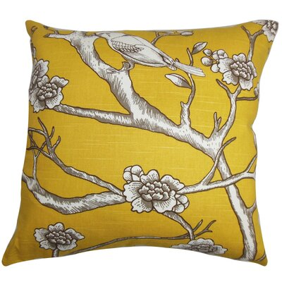 Tadita Floral Cotton Throw Pillow by The Pillow Collection