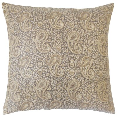Danyale Paisley Cotton Throw Pillow by The Pillow Collection