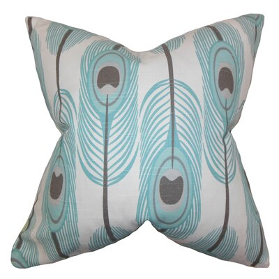 Hedy Feather Cotton Throw Pillow by The Pillow Collection
