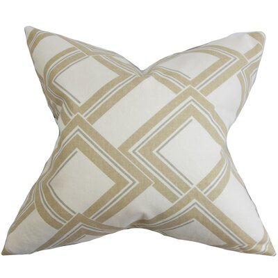 The Pillow Collection Jersey Geometric Throw Pillow