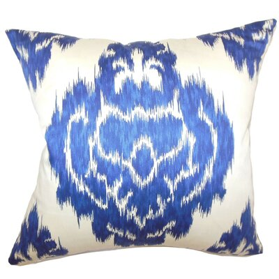 The Pillow Collection Icerish Ikat Cotton Throw Pillow