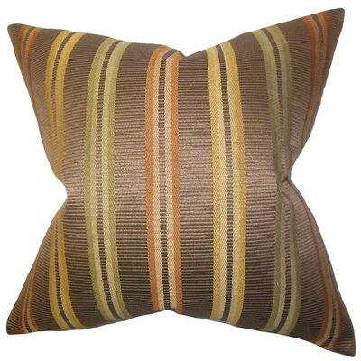 The Pillow Collection Dorsey Stripes Cotton Throw Pillow