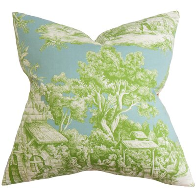 Wayfair Green Throw Pillows : The Pillow Collection Evlia Toile Cotton Throw Pillow & Reviews Wayfair