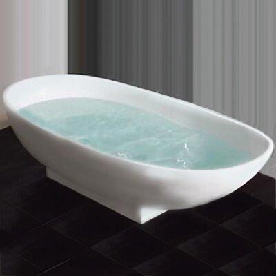 "65"" L x 34"" W Pedestal Soaking Bathtub Product Photo"