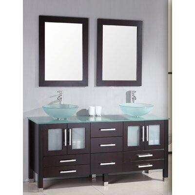 "Grand Emerald 71"" Double Bathroom Vanity Set Product Photo"