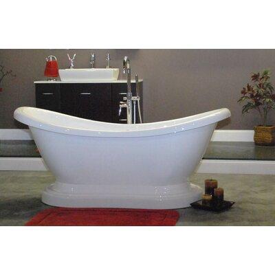 "68.63"" x 29"" Pedestal Slipper  Bathtub Product Photo"