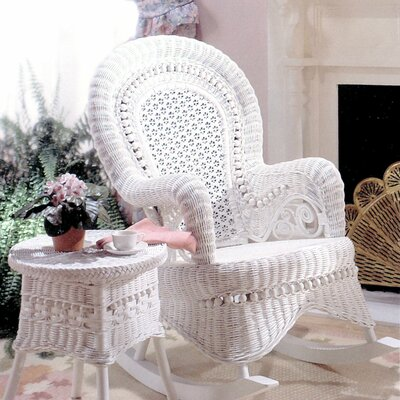 Country White Rocking Chair by Yesteryear