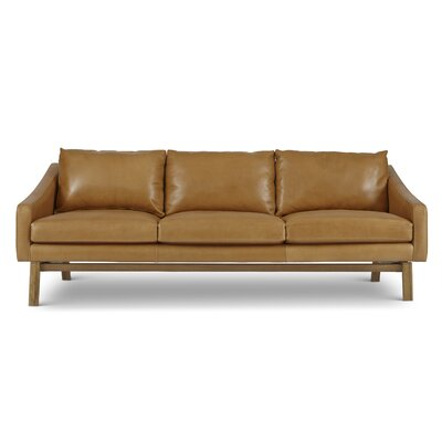 Dutch Leather Reclining Sofa by Passport Home