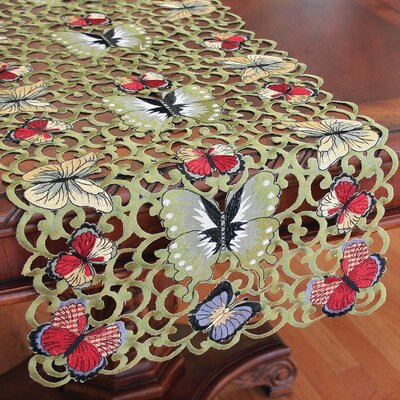 Butterflies Table Runner by Xia Home Fashions