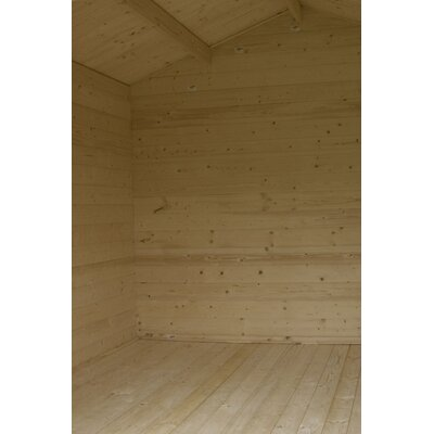 SolidBuild Douglas 9 5ft  W X 8ft  D Solid Wood Garden Shed Dgl341008 SLBD1003 on wood storage sheds 14 x 16