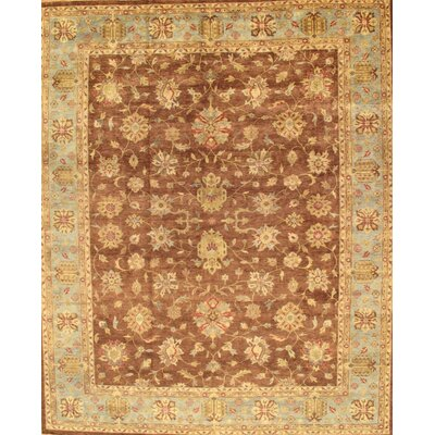 Sultanabad Brown Tribal Rustic Persian Area Rug by Pasargad