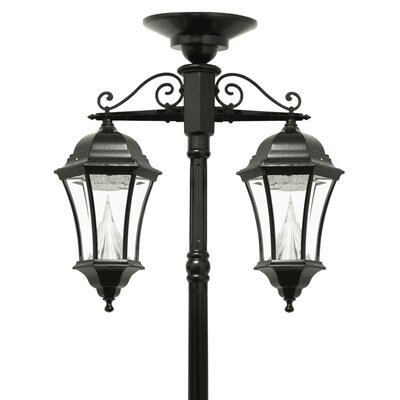victorian solar lamp 2 downward hanging 13 light 90 post lantern set. Black Bedroom Furniture Sets. Home Design Ideas