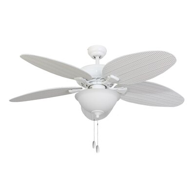 "52"" Surf Island Bowl Light 5 Blade Ceiling Fan Product Photo"