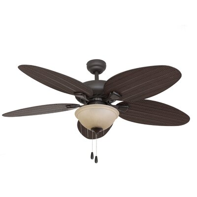 "52"" Key Largo Bowl Light 5 Blade Ceiling Fan Product Photo"