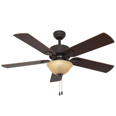 "52"" Batson Bowl Light 5 Blade Ceiling Fan Product Photo"