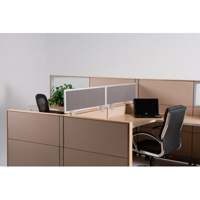 """OBEX 12"""" Cubicle Mounted Privacy Panel with Small Brackets"""