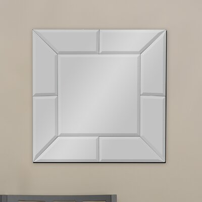 Baxton Studio Gerard Square Wall Mirror by Wholesale Interiors