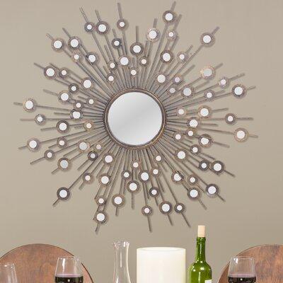Baxton Studio Goring Round Wall Mirror by Wholesale Interiors