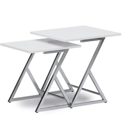 Baxton Studio 2 Piece Nesting Tables by Wholesale Interiors