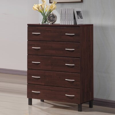 Baxton Studio 5 Drawer Chest by Wholesale Interiors