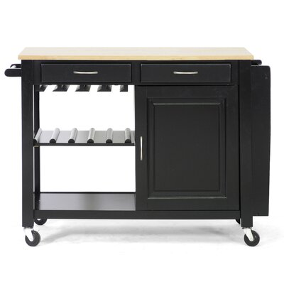 Baxton Studio Kitchen Island with Wooden Top Product Photo