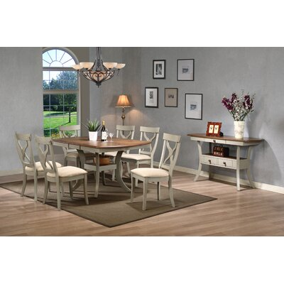 Baxton Studio Balmoral Shabby Elegance Country Cottage Antique Oak Wood and Distressed Light ...