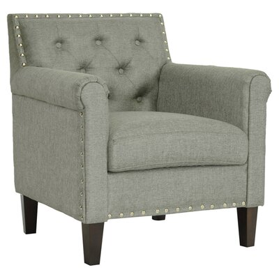 Teresa Tufted Arm Chair in Grey by Wholesale Interiors