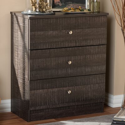 Baxton Studio 3 Drawer Chest by Wholesale Interiors