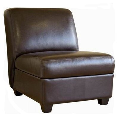 Fleance Leather Slipper Chair by Wholesale Interiors