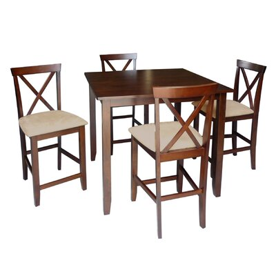 Baxton Studio Natalie 5 Piece Counter Height Dining Set by Wholesale Interiors