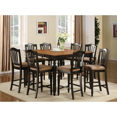 Chelsea 9 Piece Counter Height Pub Table Set by East West