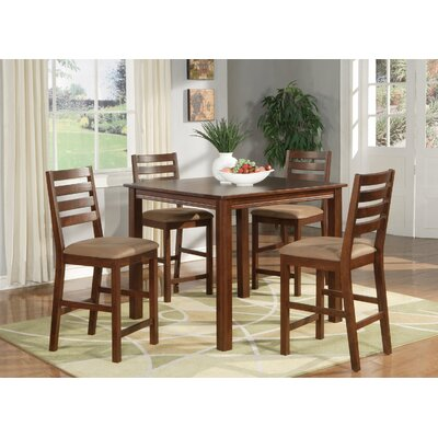 Café 5 Piece Counter Height Dining Set by Wooden Importers