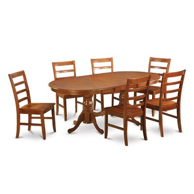 Plainville 7 Piece Dining Set by Wooden Importers