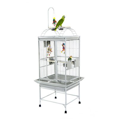 Small Play Top Bird Cage with Toy Hook by A&E Cage Co.