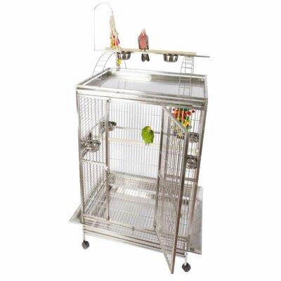 Enormous Play Top Bird Cage with Toy Hook by A&E Cage Co.