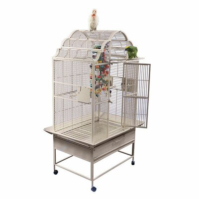 Large Victorian Top Bird Cage with Stand by A&E Cage Co.