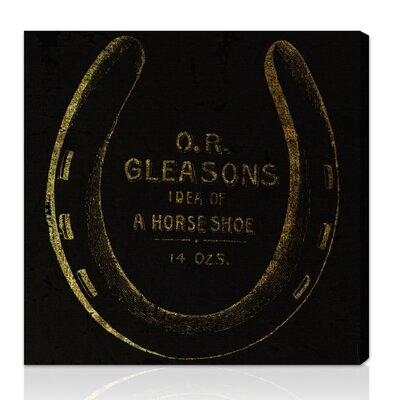 """Oliver Gal Canyon Gallery """"""""Gleasons Horse Shoe"""""""" Vintage Advertisement on Canvas"""